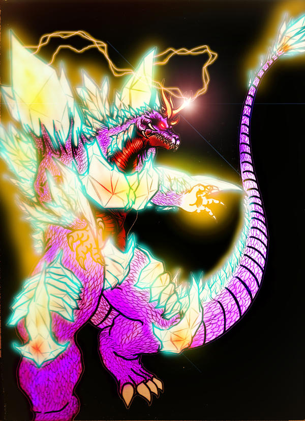 SpaceGodzilla-Perfect colored by THE-CHAOS-BRINGER