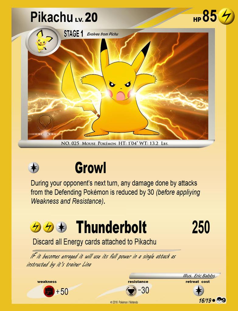 pokemon pikachu card