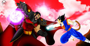 EMPEROR DAJJAL vs VEGETA jr by ERIC-ARTS-inc