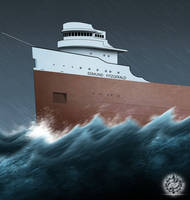 WITCH OF NOVEMBER: End of the Edmund Fitzgerald by ERIC-ARTS-inc