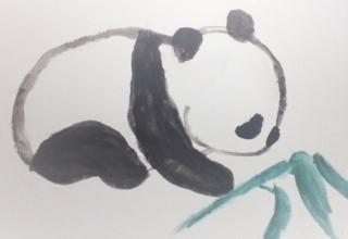 Watercolour Panda by mangagurl712