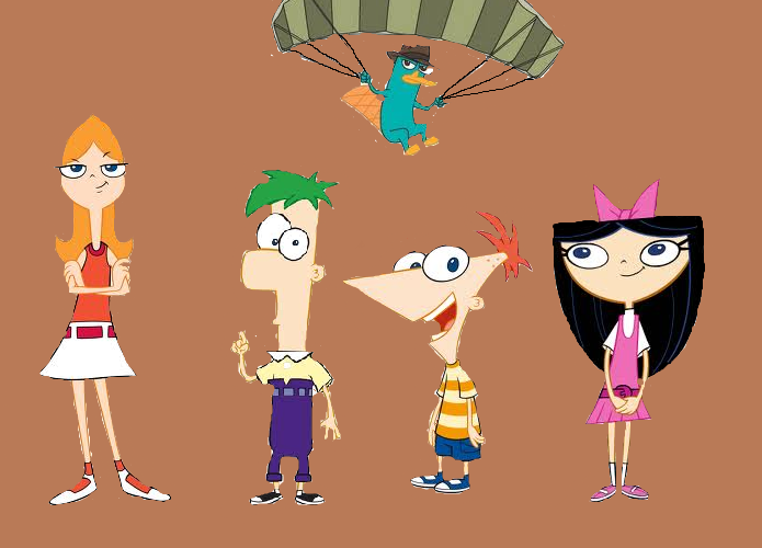 phineas, ferb, cadace, isabella, and perry by dreamerbird ...