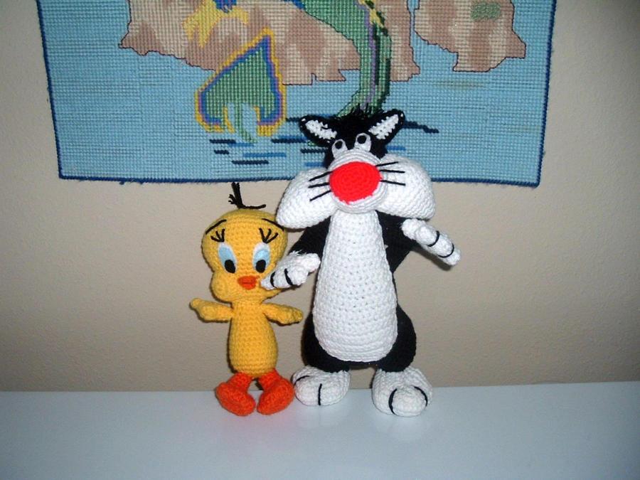 Amigurumi Tweety Yapilisi : Sylvester and Tweety amigurumi by Nanettew9 on DeviantArt