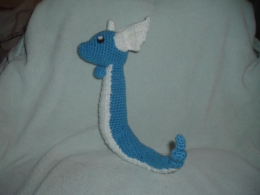 Dragonair Amigurumi Pattern : Dragonair Pokemon Crochet Amigurumi by Nanettew9 on deviantART