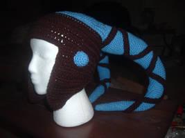 Star Wars crochet Aayla Secura Twi'lek hat by NanetteCrochet