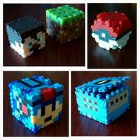 3D Art (Minecraft, Megaman, Gamecube, Pokemon) by DisasterExe