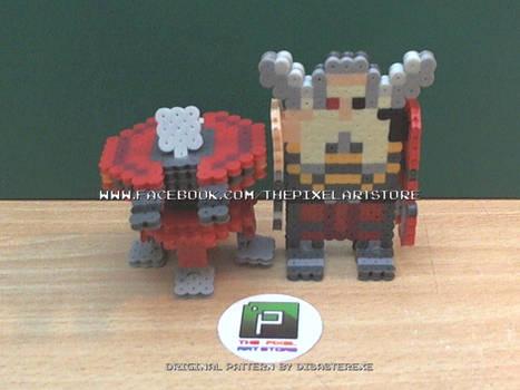 Torbjorn + Turret 3D Perler Set [Original]