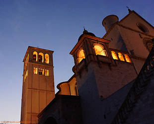 Assisi 2012 St Francesco lights by theMuspilli