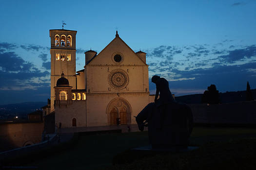 Assisi st francesco with rider