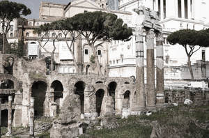 Ruins And Typewriter 00140a by theMuspilli