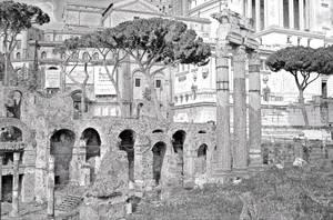 Ruins And Typewriter 00140b by theMuspilli
