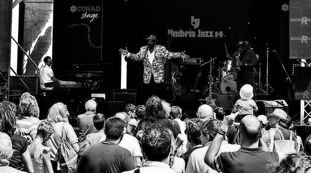 Umbria Jazz 2014: Allan Harris 3 BW