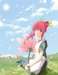 Hana in Pink Wind