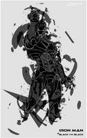 Iron Man # Black on Black by Romantar