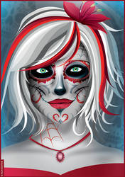 Woman Sugar Skull by Romantar