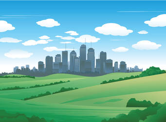 City landscape by hugolacasse