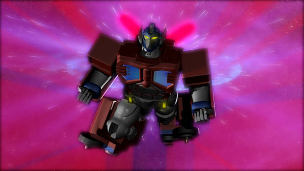 Burning Justice - RiD Optimus Prime SAVCON print