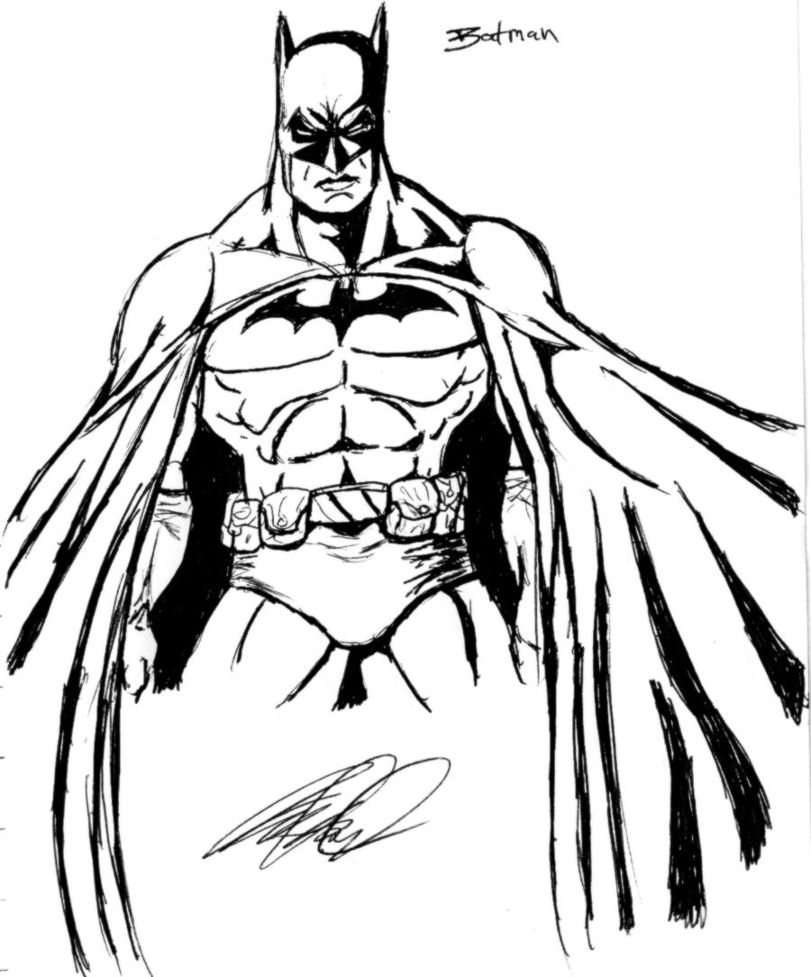 Batman Sketch By Wessel On DeviantArt