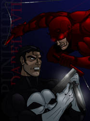 Punisher vs Daredevil by Wessel