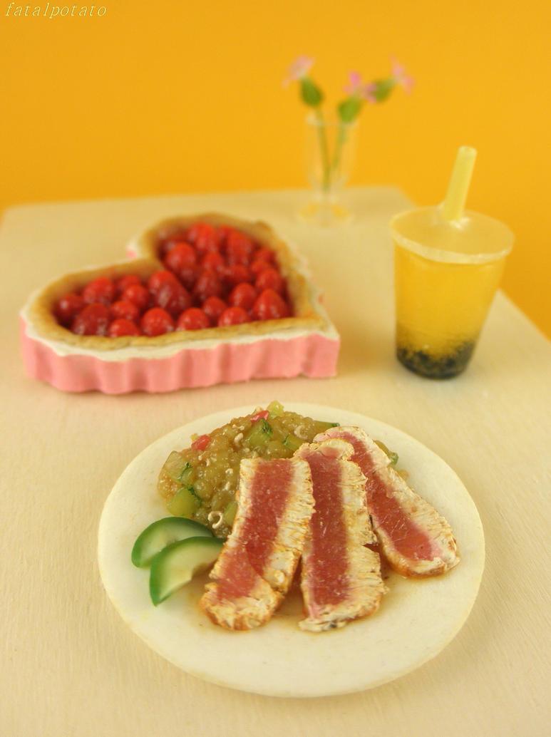 dollhouse: summer meal by FatalPotato