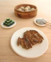 artificial pork chop and friends by FatalPotato