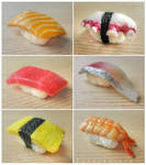 miniature sushi - assorted nigiri details