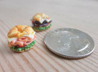 1:12 clay croissant sandwiches by FatalPotato