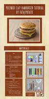 polymer clay hamburger tutorial- PART I