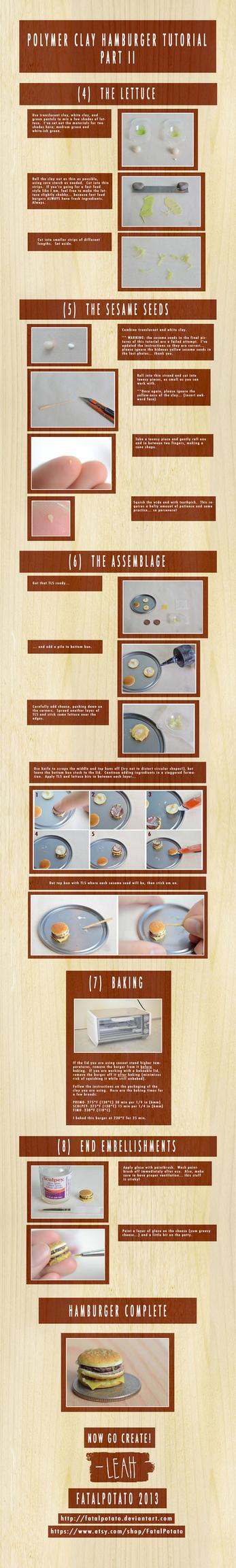 polymer clay hamburger tutorial- PART II by FatalPotato