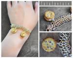 cookie chainmail bracelet by FatalPotato
