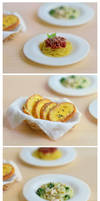 miniature spaghetti and friends- details