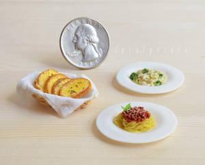 miniature spaghetti and friends by FatalPotato