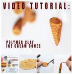 video tutorial - polymer clay ice cream cones