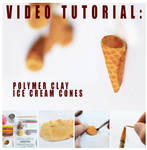 video tutorial - polymer clay ice cream cones