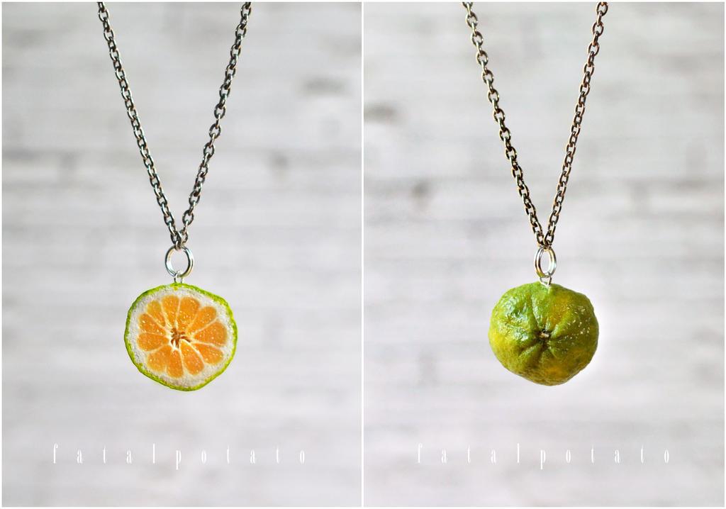 ugli fruit necklace by FatalPotato