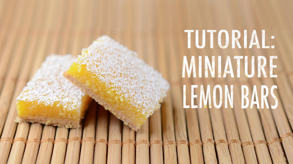 video tutorial: polymer clay lemon bars by FatalPotato