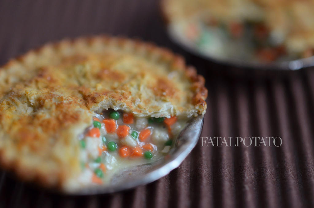 miniature chicken pot pie revisited by FatalPotato