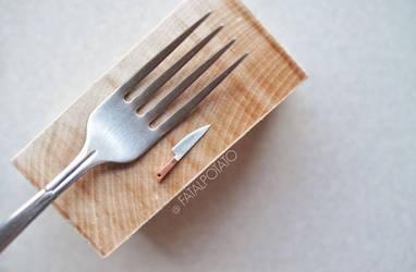 miniature kitchen knife by FatalPotato
