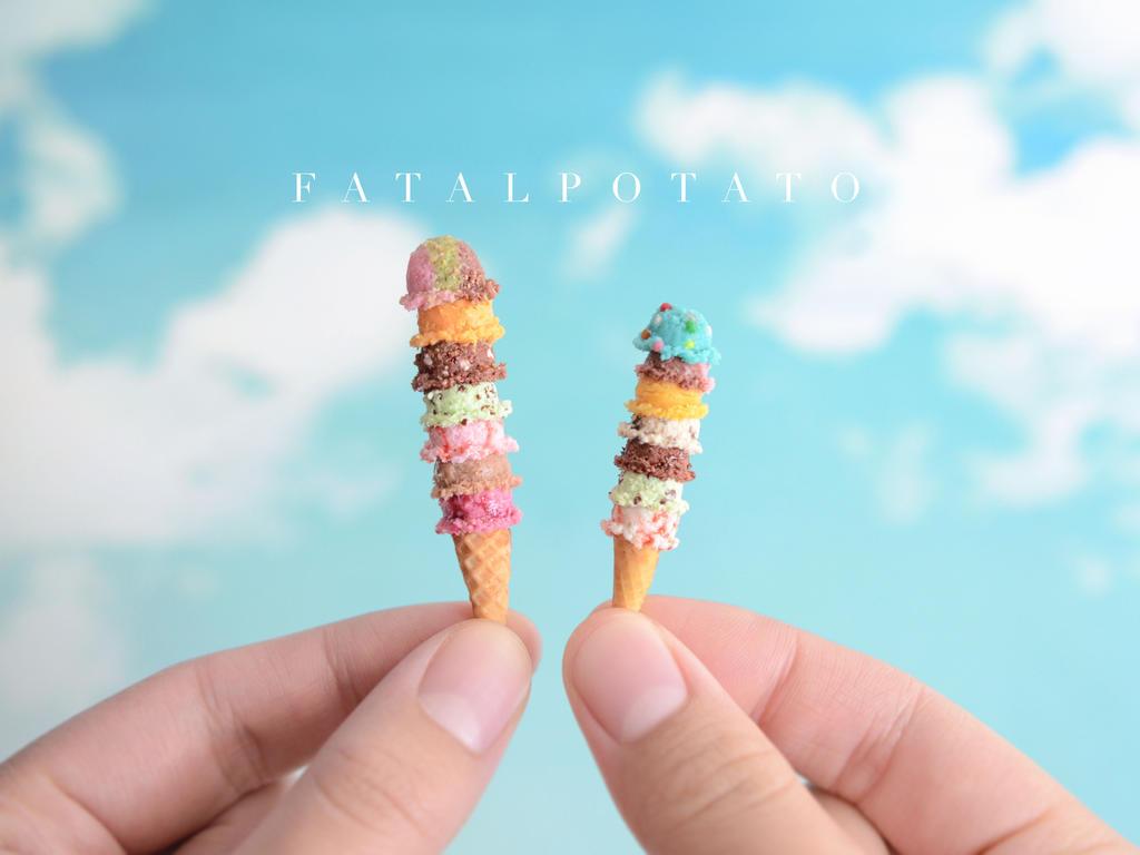 miniature ice cream V by FatalPotato