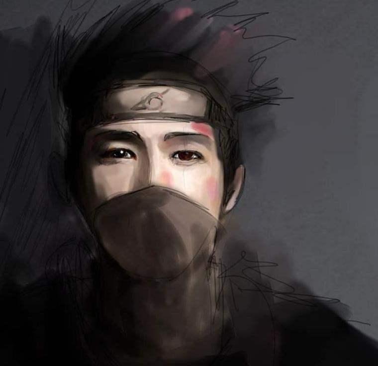 Kakashi realistic by sinemoras on DeviantArt Gaara And Rock Lee Yaoi