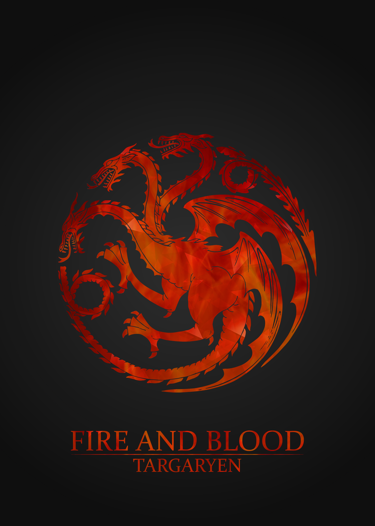 Exceptional Game Of Thrones House Targaryen 5x7 Poster By Jonoottu ...