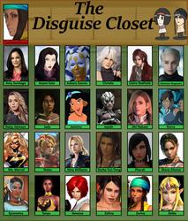 Disguise Closet by TheMaskedMoron