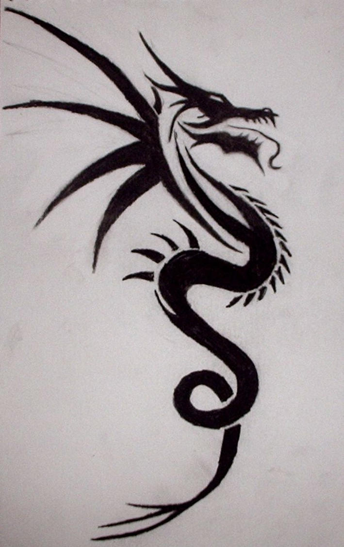 tribal dragon tattoo by xx angel of deth xx on deviantart. Black Bedroom Furniture Sets. Home Design Ideas