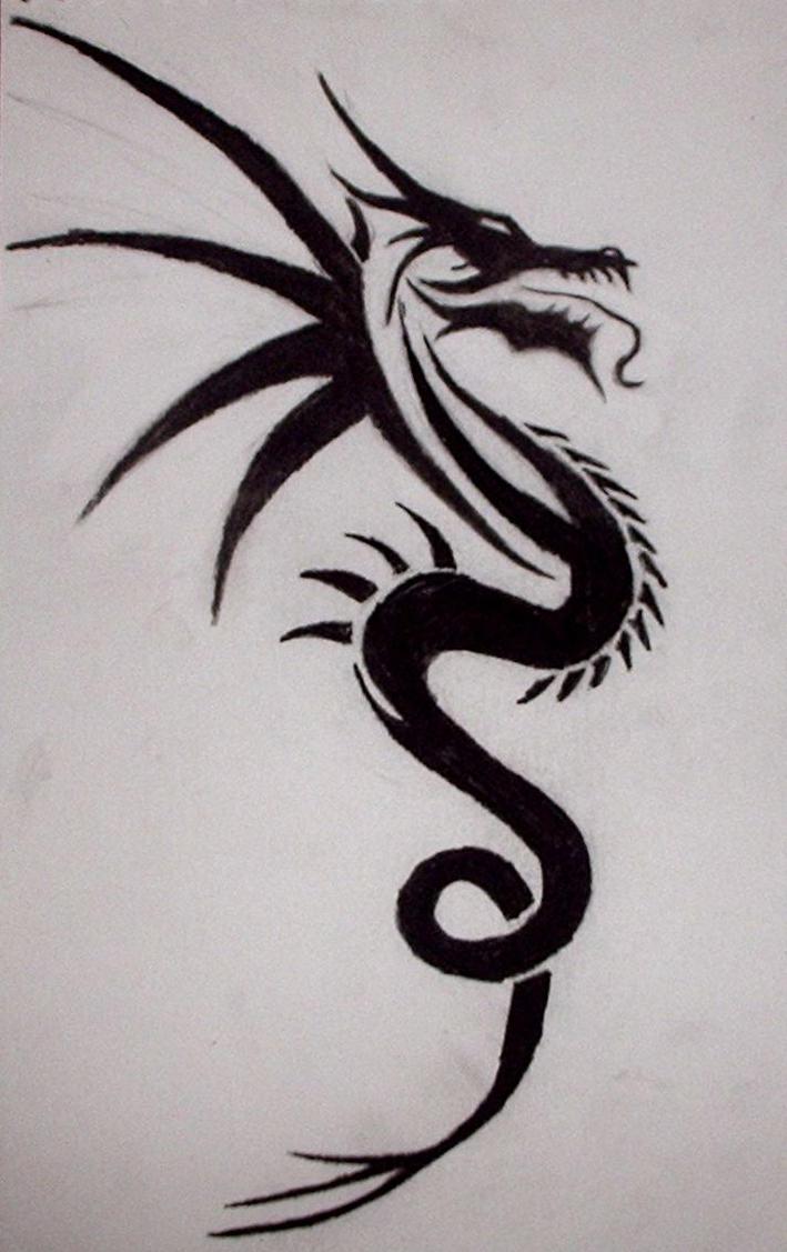 tribal dragon tattoo by xx angel of deth xx on deviantart. Black Bedroom Furniture Sets. Home Design Ideas