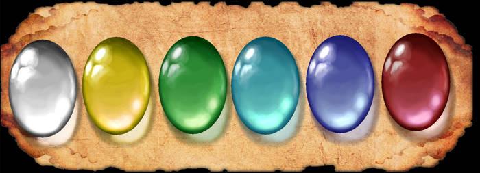 Translucent Gemstone Palette