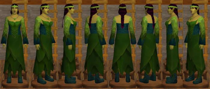 Leafy green skirt
