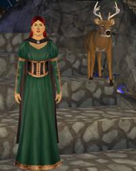 Aislinn's Green Dress