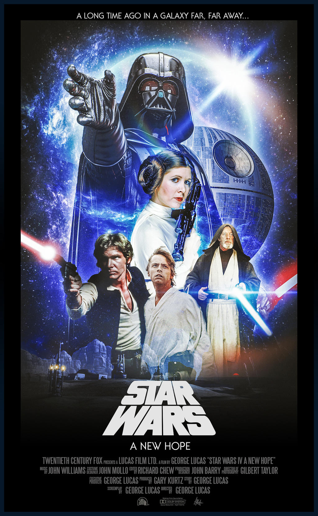 Star Wars Episode Iv A New Hope Poster By Visutox On Deviantart