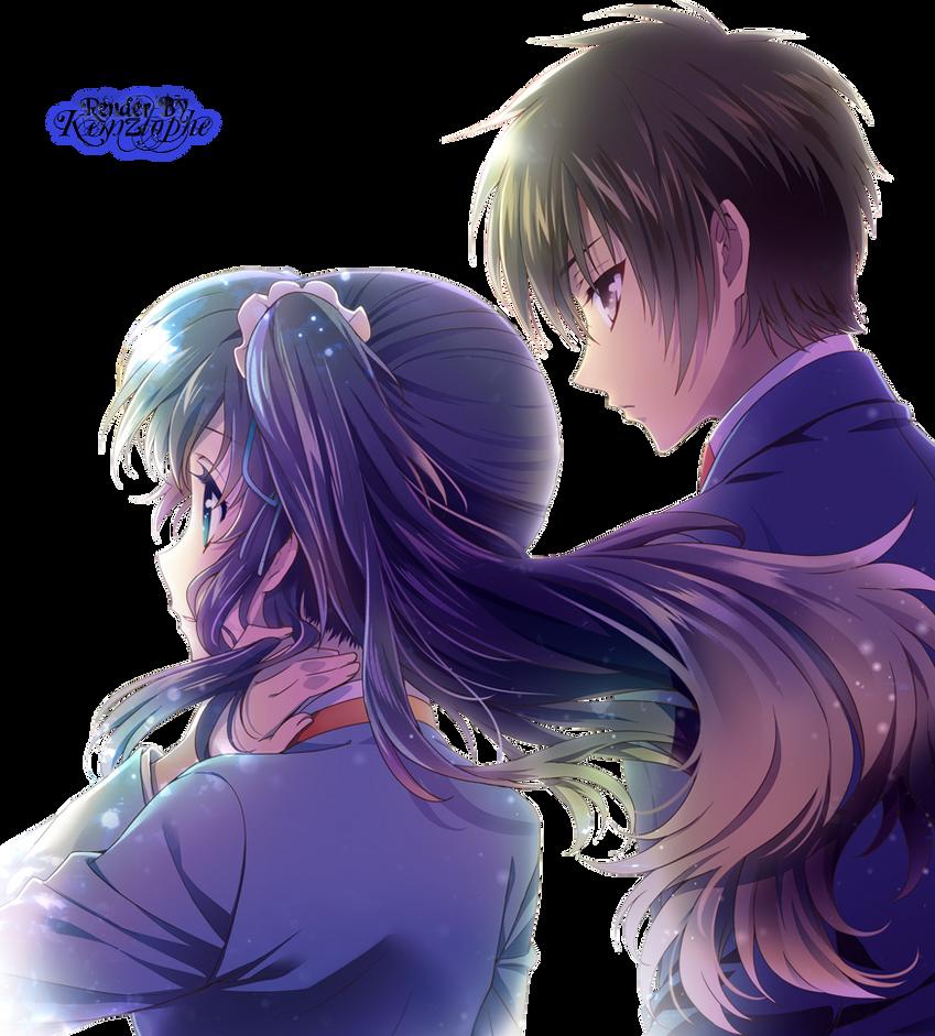 Renders anime Nagi_no_asukara___chisaki_and_tsumugu_render_by_kemzlophe-d7d03o6