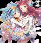 Zombieland Saga - Sakura and Lily Render